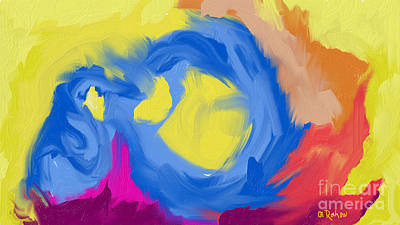 Painting - Abstract 21 by Alex Rahav