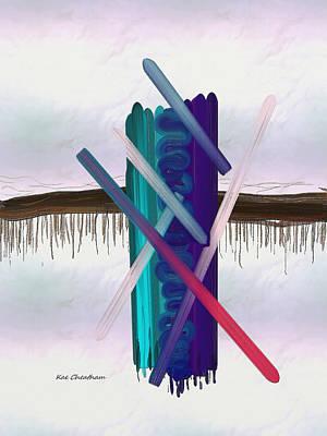Abstract Digital Art Mixed Media - Abstract 215 3 by Kae Cheatham