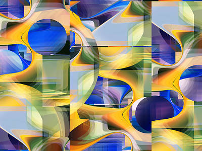 Digital Art - Abstract 2345 - Fine Art Digital Abstract by rd Erickson