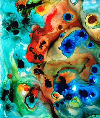 Abstract 4 - Abstract Art By Sharon Cummings Art Print