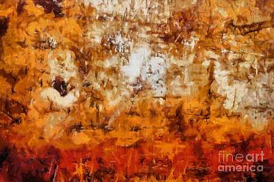 Abstract 57 Print by Edward Fielding