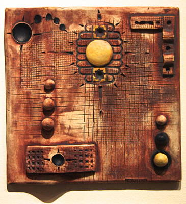 Ceramic Relief Sculpture - Abstract 6 by Dan Earle