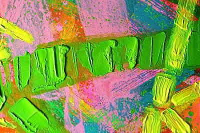 abstract 6814 Diptych Cropped XIV Art Print by John  Nolan