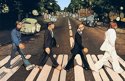 Psychedelic Rock Photograph - Abstract Abbey Road The Beatles by Dan Sproul