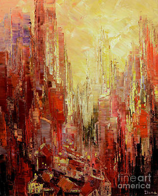 Painting - Abstract Afternoon by Tatiana Iliina
