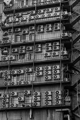 Fireescape Photograph - Abstract Air Conditioners by Chris Beasley Photography