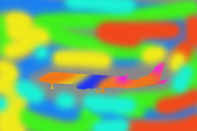 Painting - Abstract Airlines by Doc Braham