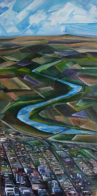 Grande Painting - Abstract Albuquerque by Judy Lybrand