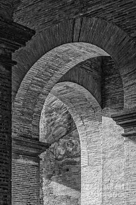 Abstract Arches Colosseum Mono Art Print