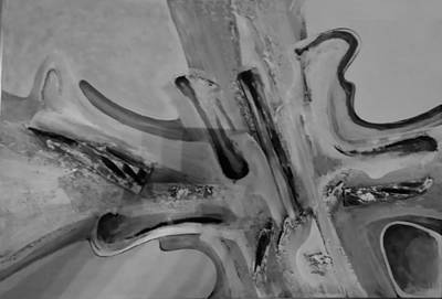 Painting - Abstract Art B W by Rob Hans
