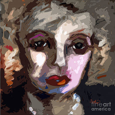 Abstract Art Bette Davis Eyes  Print by Ginette Callaway