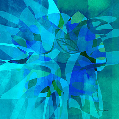 abstract - art- Blue for You Art Print by Ann Powell