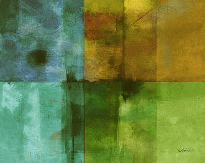 Color Block Painting - abstract - art- Color Block Rectangle  by Ann Powell