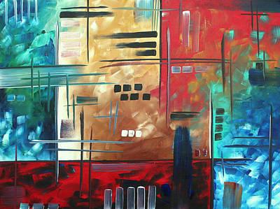 Abstract Art - Color Rush - Original Painting Madart Art Print