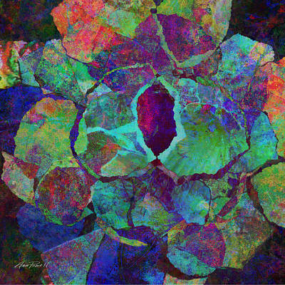 Abstract Art Colorful Collage Print by Ann Powell