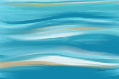 abstract - art-  Contemplation  Art Print by Ann Powell