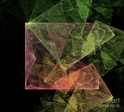 Digital Art - Abstract Art Cubic Space by Design Windmill