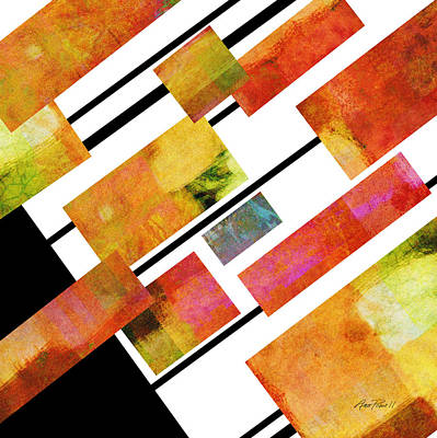 abstract art Homage to Mondrian Square Art Print by Ann Powell