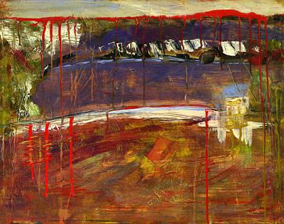 Blendastudio Painting - Abstract Art Landscape by Blenda Studio