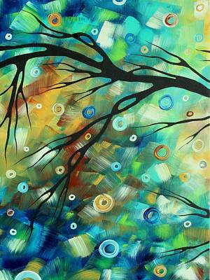 Whimsical Painting - Abstract Art Landscape Circles Painting A Secret Place 2 By Madart by Megan Duncanson