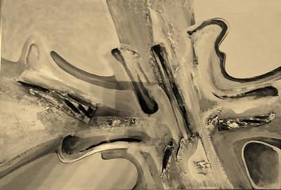 Painting - Abstract Art Light Sepia by Rob Hans