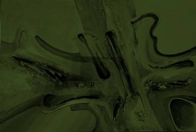 Painting - Abstract Art Olive Green by Rob Hans