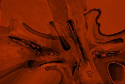 Painting - Abstract Art Orange by Rob Hans