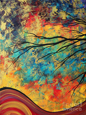 Abstract Art Original Landscape Painting Go Forth I By Madart Studios Art Print by Megan Duncanson