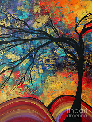 Abstract Art Original Landscape Painting Go Forth II By Madart Studios Art Print by Megan Duncanson