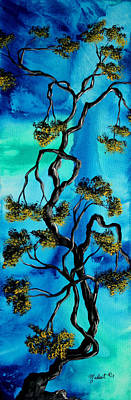 Abstract Art Original Landscape Painting Life Is A Maze By Madart Art Print by Megan Duncanson