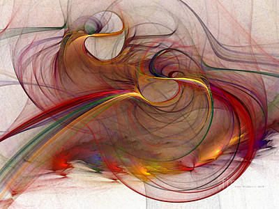 Contemplative Digital Art - Abstract Art Print Inflammable Matter by Karin Kuhlmann