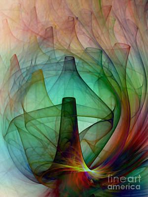 Expressionist Digital Art - Abstract Art Print Witches Kitchen by Karin Kuhlmann