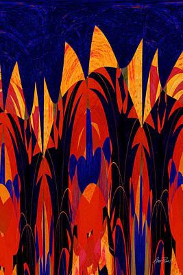 Digital Art - abstract art - Tropical Fever by Ann Powell