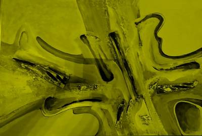 Painting - Abstract Art Yellow by Rob Hans