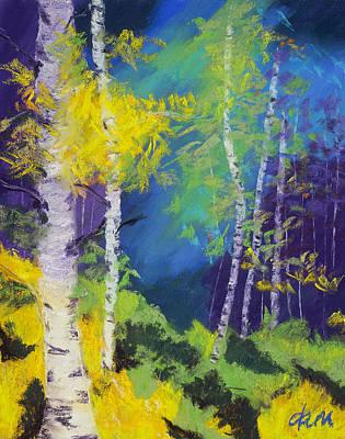 Abstract Aspens Art Print by Dana Strotheide