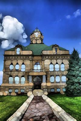 Abstract Auglaize County Courthouse Art Print by Dan Sproul