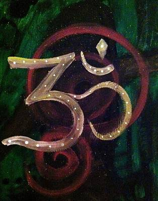Unity Painting - Abstract Aum by Amanda Lavoy
