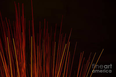 Photograph - Abstract Background Of Red Sticks by Jacek Malipan