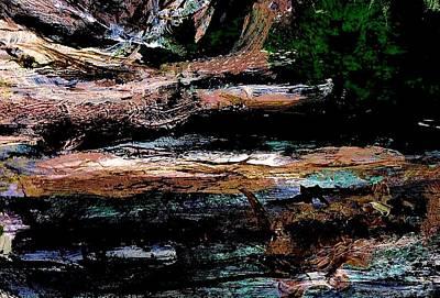 Abstract Beach Log Art Print