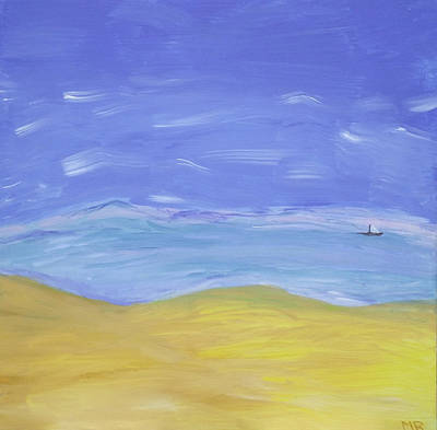 Art Print featuring the painting Abstract Beach by Martin Blakeley
