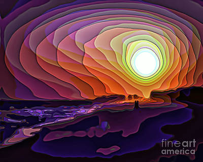 Digital Art - Beach Sunset 8993 by Walt Foegelle