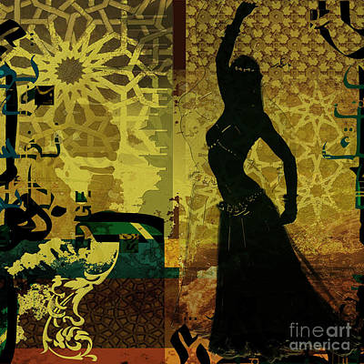 Painting - Abstract Belly Dancer 11 by Mahnoor Shah