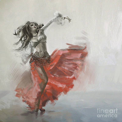 Painting - Abstract Belly Dancer 19 by Mahnoor Shah
