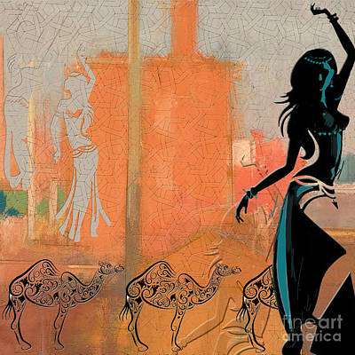 Painting - Abstract Belly Dancer 4 by Mahnoor Shah