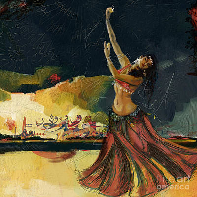 Painting - Abstract Belly Dancer 5 by Mahnoor Shah