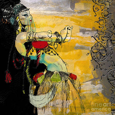 Painting - Abstract Belly Dancer 6 by Mahnoor Shah