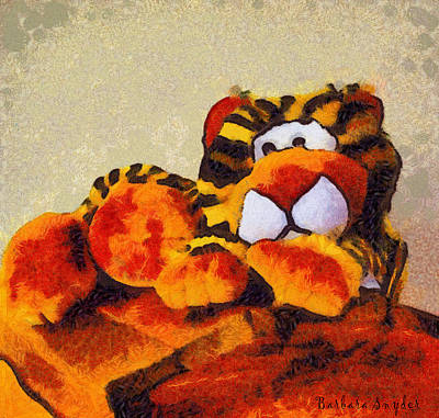 Kitty Digital Art - Abstract Bengal Tiger by Barbara Snyder