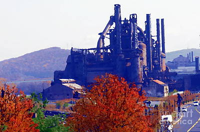 Photograph - Abstract - Bethlehem Steel - Indian Summer by Jacqueline M Lewis