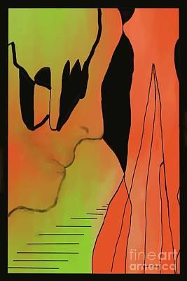 Abstract Bewildered Art Print by Dessie Durham
