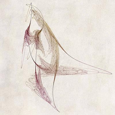 Curves Digital Art - Abstract Bird by David Ridley